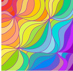 multicolour rainbow lines background. vector illustration