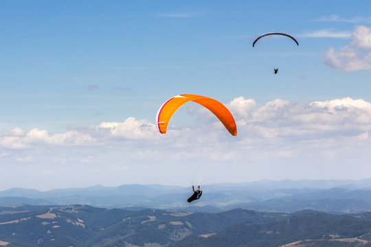 paragliding  extreme over the mountains