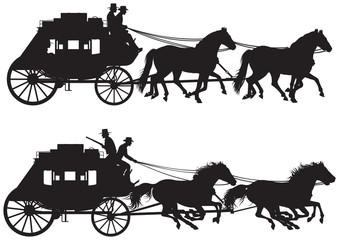 Stagecoach silhouettes