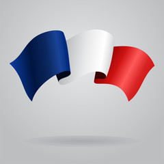 French waving Flag. Vector illustration