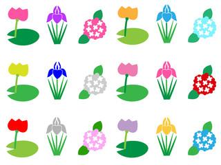 夏の花の背景