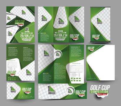 Golf Club Stationery Set Template