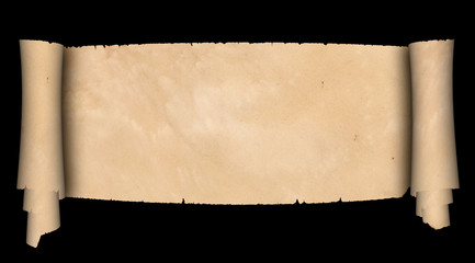 Ancient parchment scroll.