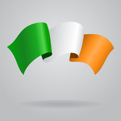 Irish waving Flag. Vector illustration