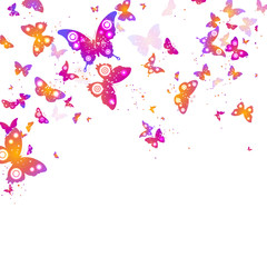 background of flying butterflies