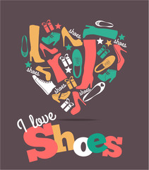 Shoes background.
