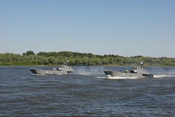 Парад в честь для Военно-морского флота в Астрахани