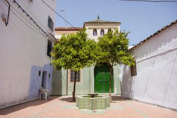 Blue White Lane Tetounat cities in Morocco