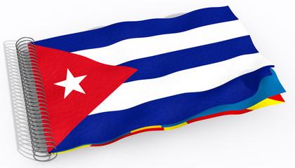 Bandiera con spirale Cuba