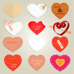 valentines day card with heart.