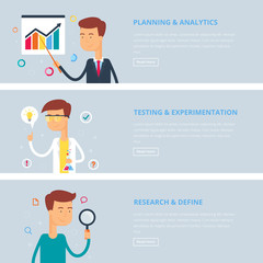 Banners for web: planning and analytics, testing and experimenta