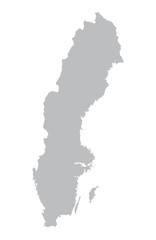 grey map of Sweden