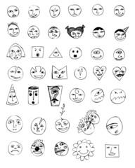 Smile vector set