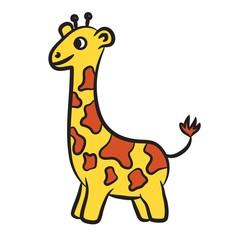 Cartoon giraffe. Vector illustration