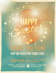 Bright and sparkling Easter egg hunt invitation flyer or poster