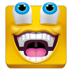 Square emoticon likes what is seeing