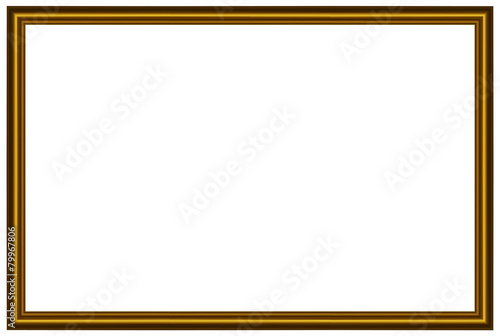 Cornice Dorata Rettangolare Stock Image And Royalty Free Vector