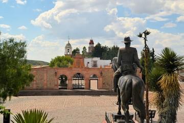Foto op Textielframe Artistiek mon. Hill chapel in colonial town Zacatecas, Mexico