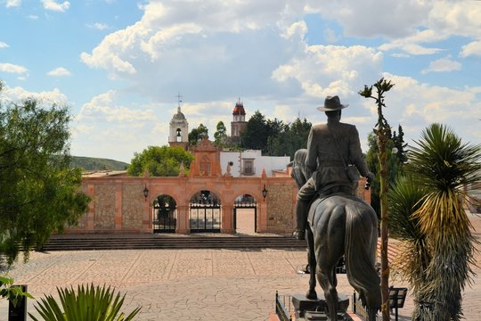 Hill chapel in colonial town Zacatecas, Mexico