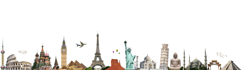 Fototapete - Travel the world monument concept