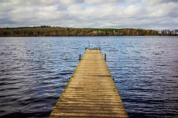 Jetty, wooden pier in daylight
