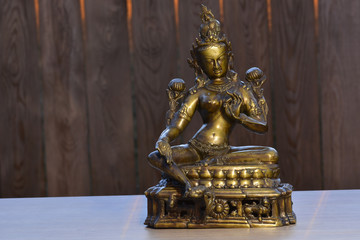 Tara Indian statue from tantra tradition, made by bronze
