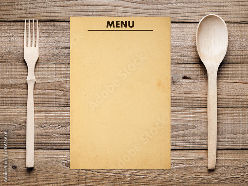blank menu design - 585×438