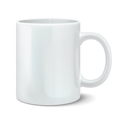 Vector illustration of photorealistic white mug