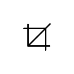Crop Tool - Trendy Thin Line Icon