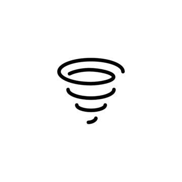 Tornado - Trendy Thin Line Icon