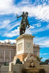 Monument of Philip IV of Spain in Madrid