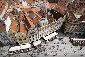 Elevated view of old town, Prague, Czech Republic