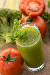 broccoli and tomato juice