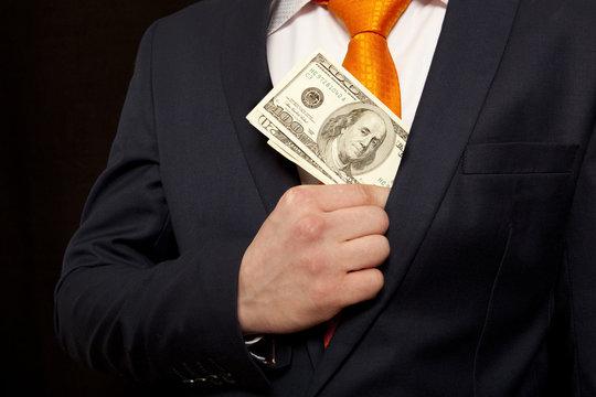 Bribe, concept for corruption