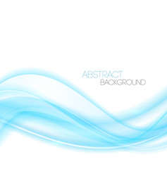 Abstract Blue curved lines background. Template design