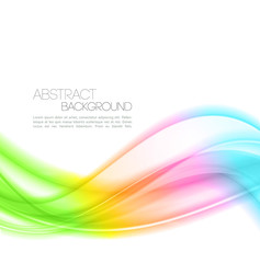 Abstract Color curved lines background. Wave Template design