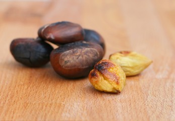 Roasted sweet chestnut (Castanea sativa)