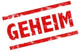 """""""Stempel Grunge rot streng geheim"""" Stockfotos und ..."""