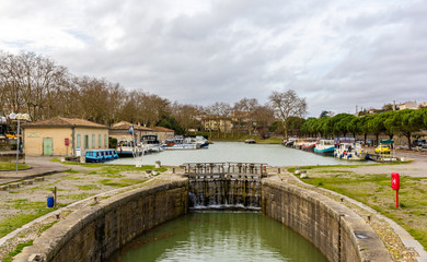 The Canal du Midi in Carcassonne - France