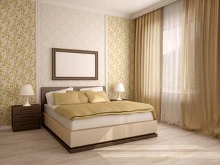 Elegant house bedroom interiors
