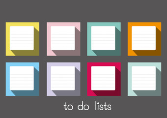 to do lists blank long shadow