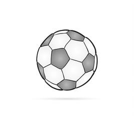 football ball and shadow