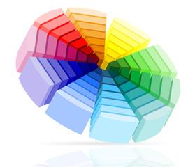 color palette vector illustration