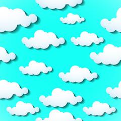 Clouds background. Vector illustration. Eps 10