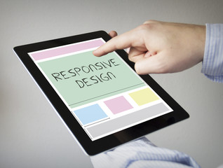 responsive design on a tablet
