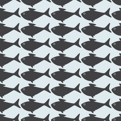 Grey fish background