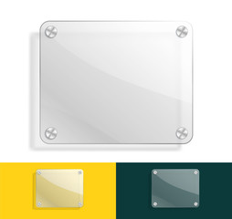 glass background with color variations