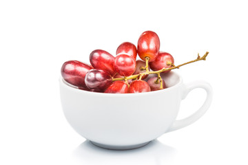 A cup of red grapes Fototapete