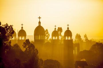 Ethiopian orthodox church at dawn