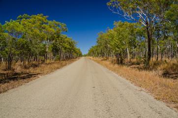 Straße im Outback, Qld., Australien